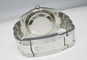 ロレックス ROLEX デイトジャスト 126300 ランダム グリーンローマ SS メンズ 自動巻 グレー文字盤 オイスターブレス 極美品 完品 IT7583