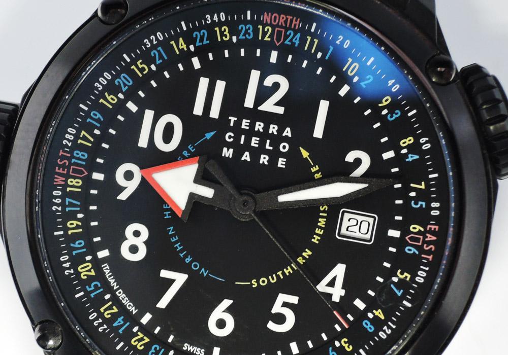 TERRA CIELO MARE テラチェロマーレ オリエンテーリング タクティカル TC7008BP4PA チタニウム 自動巻 44mm 保証書 IT7616