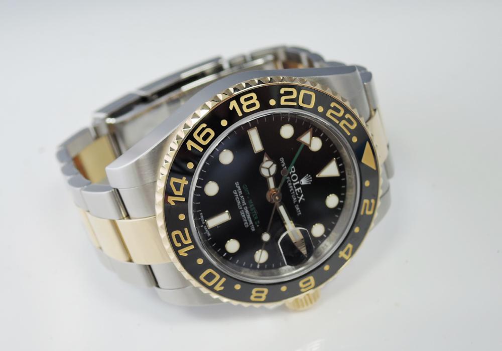 ロレックス ROLEX GMTマスター2 116713LN 自動巻 SS×YG コンビ 保証書 CF7619