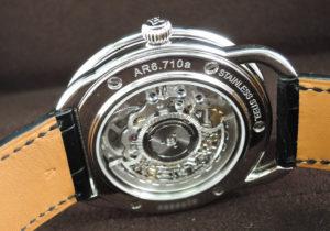 エルメスHERMES アルソースケルトン AR6.710A 自動巻 41.0mm ステンレススティール ブルー文字盤 保証書 アメリカ、ニューヨーク正規店 2019年10月購入 IT7619