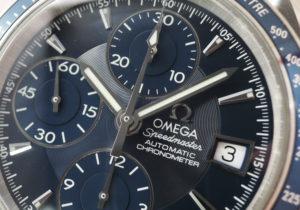 オメガ OMEGA スピードマスター デイト 3212.80 クロノグラフ 自動巻 青文字盤 保証書 CF7621