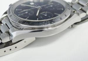 オメガ OMEGA スピードマスターデイト 3511.80 クロノグラフ 青文字盤 自動巻き ステンレス メンズ 時計 CF7625