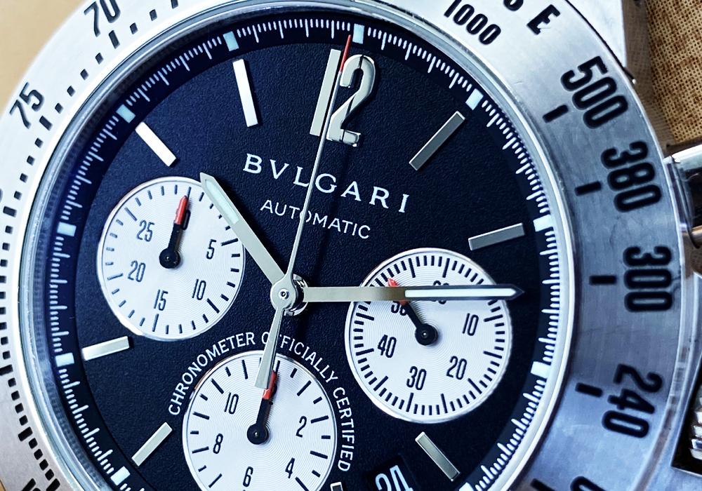 ブルガリ BVLGARI ディアゴノ プロフェッショナル テラ CH40SSDTA ステンレス クロノグラフ 40mm 自動巻 国際保証書 クロノメーター認定書 IT7661