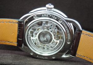 エルメス HERMES アルソー スケルトン AR6.710a 自動巻 41.0mm ステンレス ブラウン文字盤 保証書 箱 IT7903