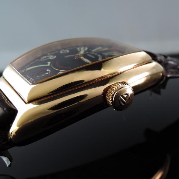 コンキスタドール 8000SC 18K YG 革 正規品保証書有【中古時計】