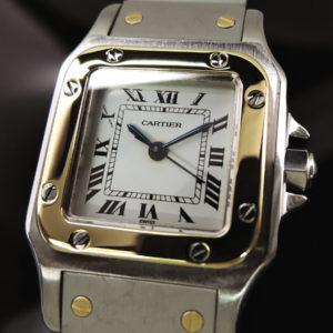 Cartier サントスガルベSM 自動巻 研磨仕上げ YGxSS 【中古時計】 【委託時計】