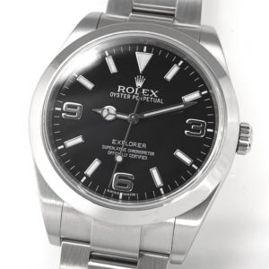 ロレックス ROLEX エクスプローラーⅠ explorer 214270 ランダム SS 保証書 自動巻 メンズ オイスターブレス 美品 CA9826