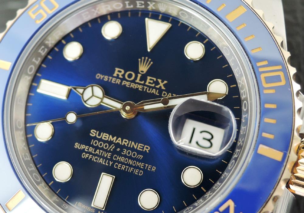 ロレックス ROLEX サブマリーナ デイト コンビ 116613LB 青サブ ランダム品番 SSx18KYG 駒3 保証書有 CD5575