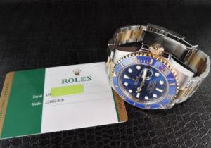 ロレックス ROLEX サブマリーナ デイト コンビ 116613LB 青サブ ランダム SSx18KYG 保証書有 CD5576