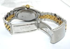 ROLEX デイトジャスト 16233 L番 シャンパンゴールド ホリコンダイヤル 18YGxSS 【委託時計】
