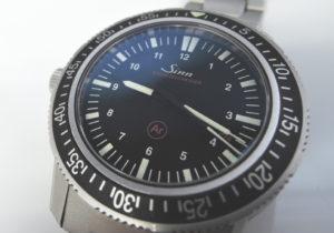 ジンSinn 603.EZM3 ドイツ警察特殊部隊 ステンレス 自動巻 黒文字盤 CF7636