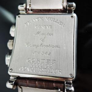 FRANCK MULLER コンキスタドール コルテス クロノグラフ 10000CC WGx革