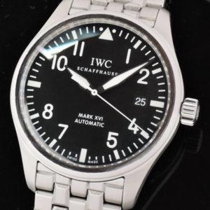 マーク16 IW325504 SS 黒 付属品完品 中古時計