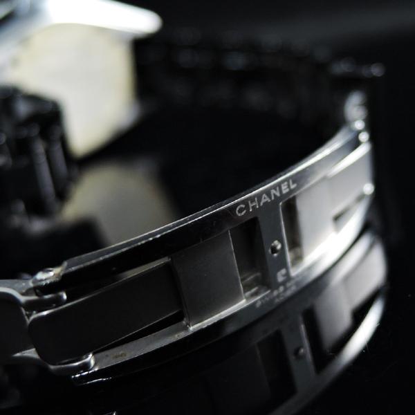CHANEL J12 H0949 黒セラ ダイヤベゼル 黒 レディース腕時計【委託中古時計】