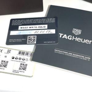 タグホイヤー TAG HEUER カレラ キャリバー16 デイデイト クロノグラフ CV2A1AC.BA0738 メンズ 自動巻 白文字盤 保証書有 IT7900