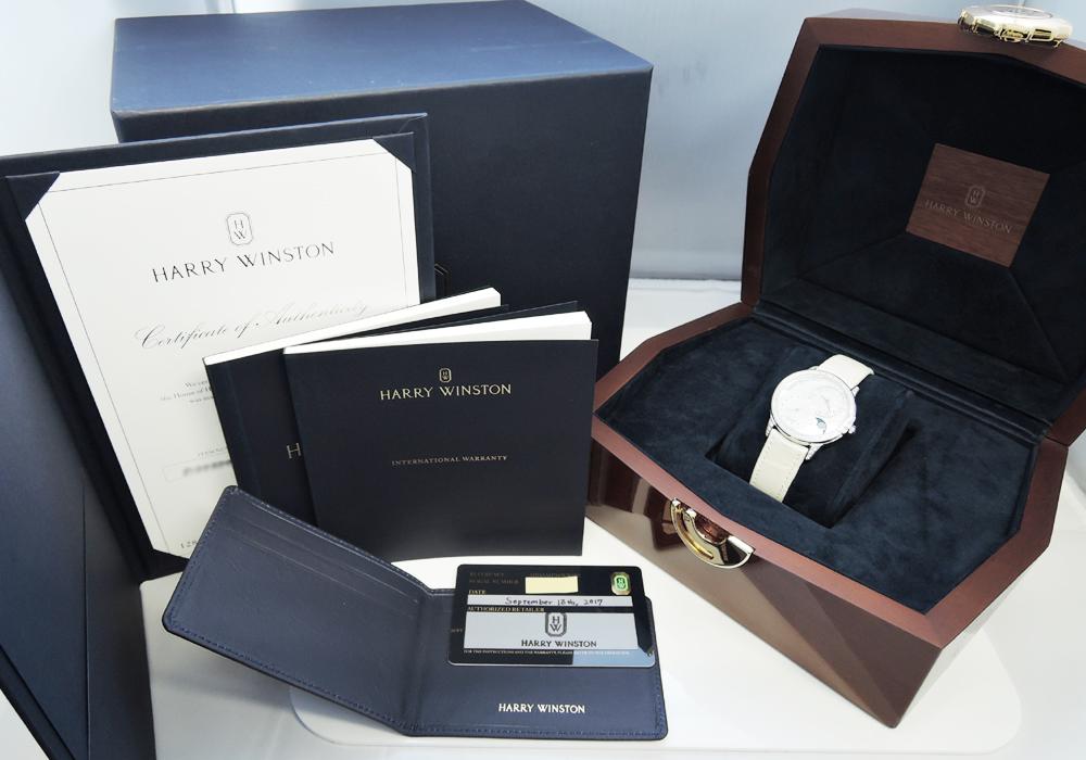 ハリーウィンストン HARRY WINSTON MIDAMP36WW001 HW ミッドナイト・デイト ムーンフェイズ WG 36mm IT7654