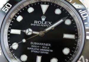 ロレックス ROLEX サブマリーナ ノンデイト 114060 ランダム 黒文字盤 セラミックベゼル 正規保証書 箱 購入店保証書 IT7840