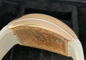 フランクミュラー FRANCK MULLER ヴァンガード 7デイズ V45S6SQT 5NBC スケルトン 18KPG クロコレザー ホワイト 保証書