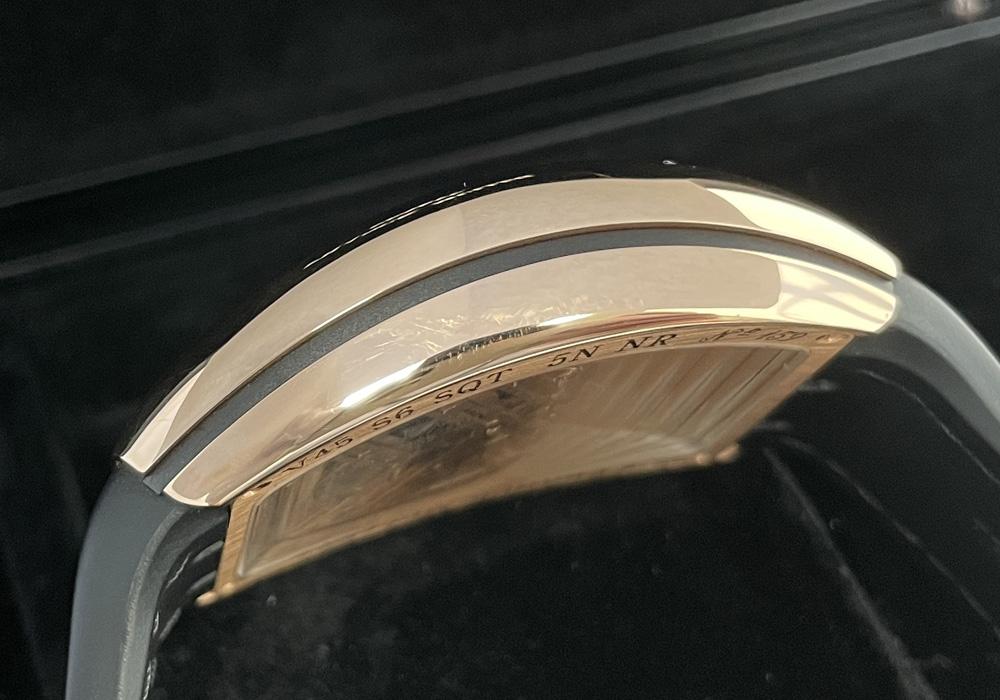 フランクミュラー FRANCK MULLER ヴァンガード 7デイズ V45S6SQT 5NNR スケルトン 18KPG クロコレザー ブラック 保証書