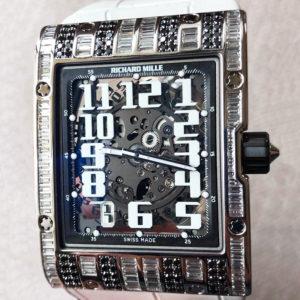 リシャールミル RICHARD MILLE エクストラフラット RM016 自動巻 チタン バゲットダイヤ 保証書 箱