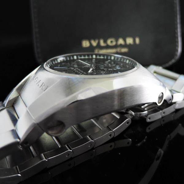 ブルガリ エルゴン EG40 S CH クロノグラフ 黒文字盤 メンズ中古時計
