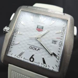 【1円オク中】プロフェッショナルゴルフウォッチ WAE1112.FT6008 白